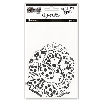 Ranger Dylusions CREATIVE DYARY BLACK & WHITE BIRDS & FLOWERS DY-CUTS Dyan Reaveley DYE58595