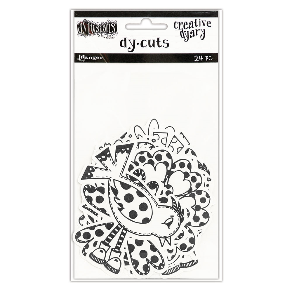 Ranger Dylusions CREATIVE DYARY BLACK & WHITE BIRDS & FLOWERS DY-CUTS Dyan Reaveley DYE58595 zoom image