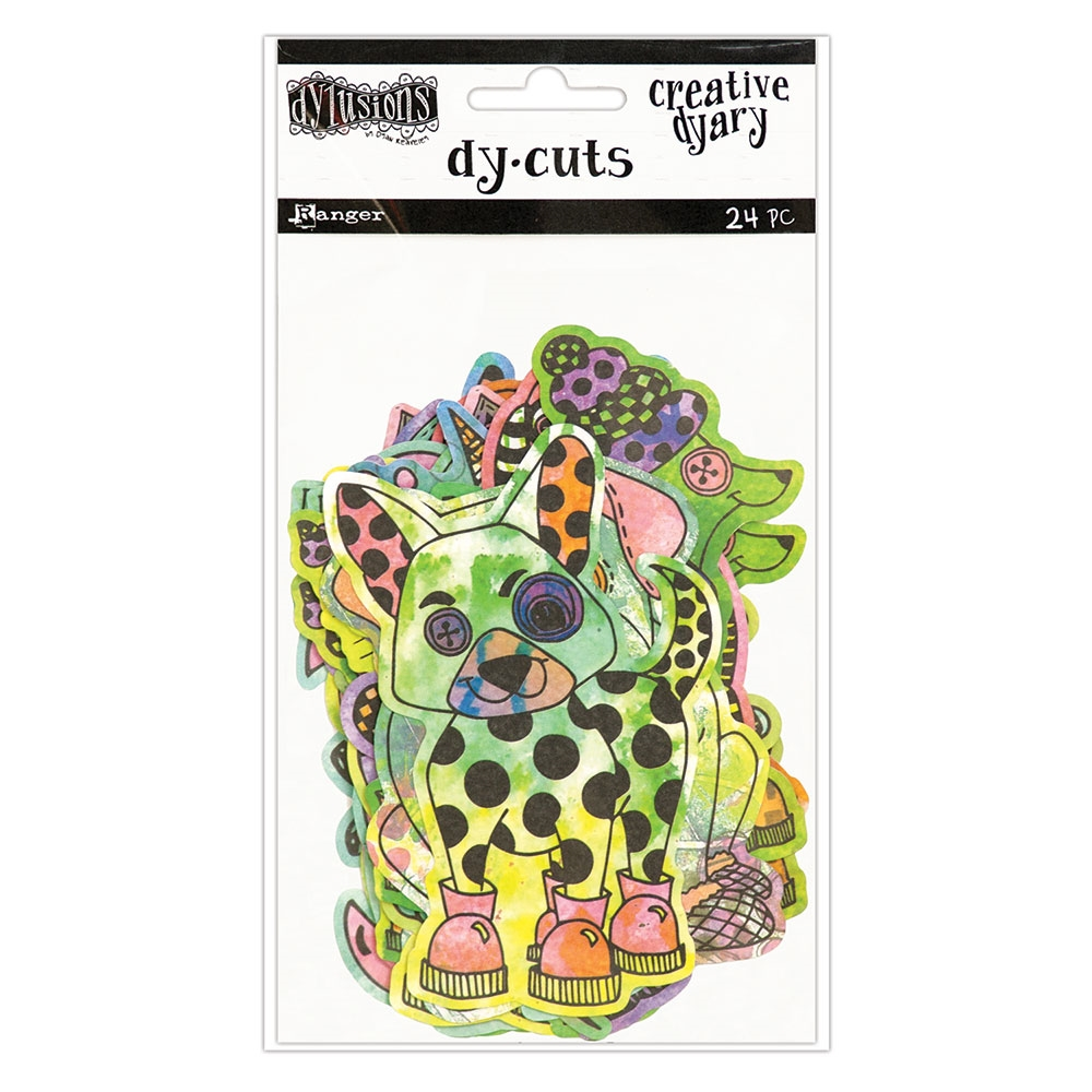 Ranger Dylusions CREATIVE DYARY COLORED ANIMALS DY-CUTS Dyan Reaveley DYE58649 zoom image