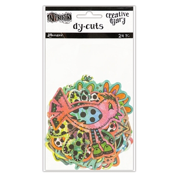 Ranger Dylusions CREATIVE DYARY COLORED BIRDS & FLOWERS DY-CUTS Dyan Reaveley DYE58717