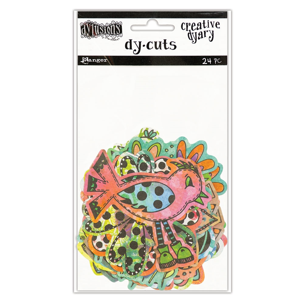 Ranger Dylusions CREATIVE DYARY COLORED BIRDS & FLOWERS DY-CUTS Dyan Reaveley DYE58717 zoom image