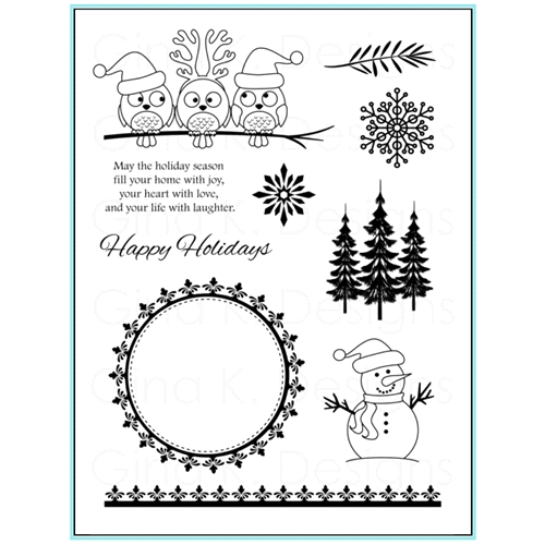 Gina K Designs HOLIDAY SEASON Clear Stamps 9568 Preview Image