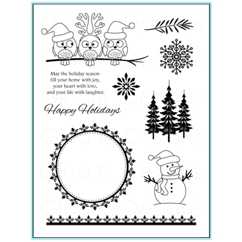 Gina K Designs HOLIDAY SEASON Clear Stamps 9568