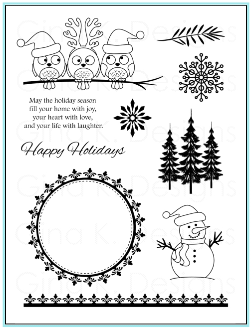 Gina K Designs HOLIDAY SEASON Clear Stamps 9568 zoom image