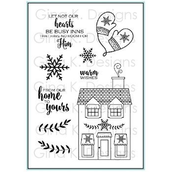 Gina K Designs HOME FOR THE HOLIDAYS Clear Stamps 9582