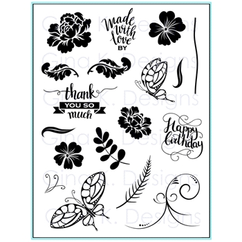 Gina K Designs MADE WITH LOVE Clear Stamps 9605