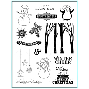 Gina K Designs WINTER CHEER Clear Stamps 9650