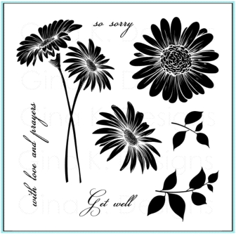 Gina K Designs WITH LOVE AND PRAYERS Clear Stamps 9674