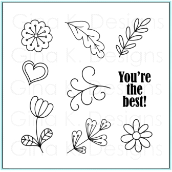 Gina K Designs YOU'RE THE BEST Clear Stamps 9681