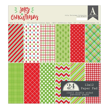 Authentique JOLLY CHRISTMAS 12 x 12 Paper Pad JCM009