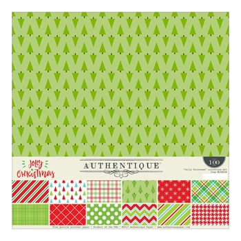 Authentique JOLLY CHRISTMAS 12 x 12 Collection Kit JCM008