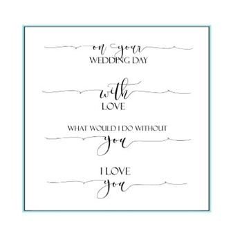 Gina K Designs SCRIPTY LOVE Clear Stamps 9735