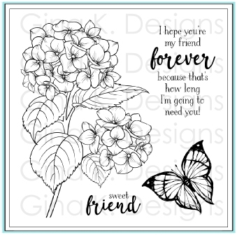 Gina K Designs HEARTFELT HYDRANGEA Clear Stamps 9759 zoom image