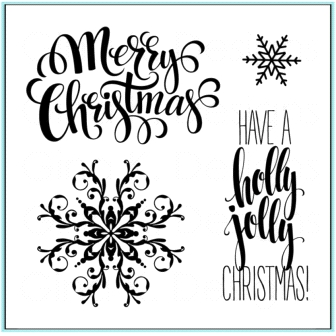 Gina K Designs HOLLY JOLLY Clear Stamps 9766