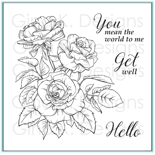 Gina K Designs ROSE BOUQUET Clear Stamps 9773 Preview Image