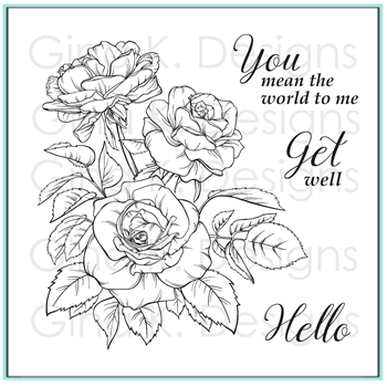 Gina K Designs ROSE BOUQUET Clear Stamps 9773