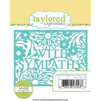 Taylored Expressions SYMPATHY BLOOMS Cutting Plate Die TE1137