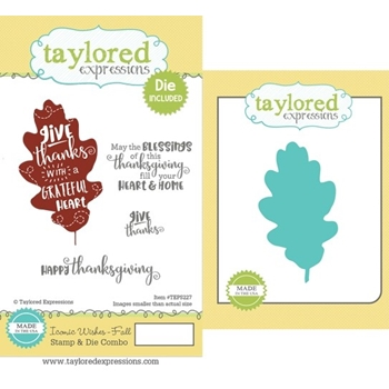 Taylored Expressions ICONIC WISHES FALL CLING STAMP AND DIE COMBO TEPS227