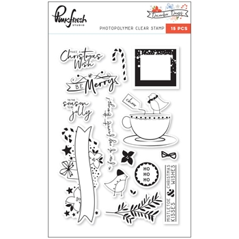 Pinkfresh Studio DECEMBER DAYS Clear Stamp Set PFRC501217