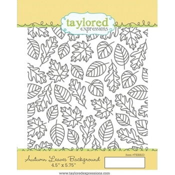 Taylored Expressions AUTUMN LEAVES BACKGROUND Cling Stamp Set TEBB23