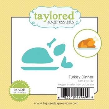 Taylored Expressions Little Bits TURKEY DINNER Die Set TE1142