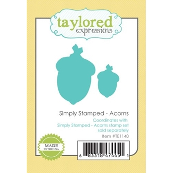 Taylored Expressions SIMPLY STAMPED ACORNS Die Set TE1140