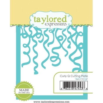 Taylored Expressions CURLY Q CUTTING PLATE Die Set TE1147