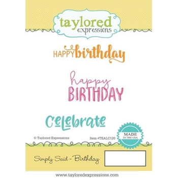Taylored Expressions SIMPLY SAID BIRTHDAY Cling Stamp Set TEALC120