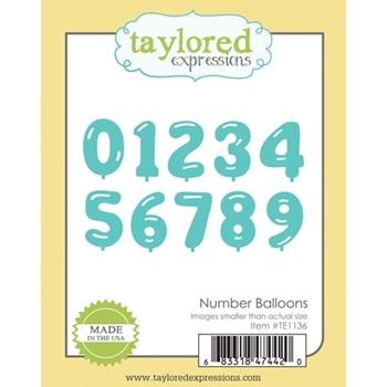 Taylored Expressions NUMBER BALLOON Die Set TE1136