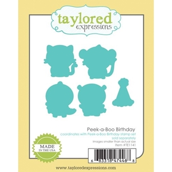 Taylored Expressions PEEK A BOO BIRTHDAY Die Set TE1141