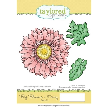 Taylored Expressions BIG BLOOMS DAISY Cling Stamp Set TEMD116