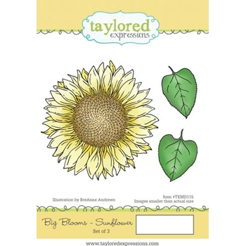 Taylored Expressions BIG BLOOMS SUNFLOWER Cling Stamp Set TEMD115
