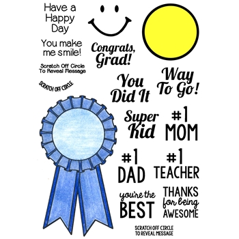 Inky Antics BLUE RIBBON Clear Stamp Set 11375MC