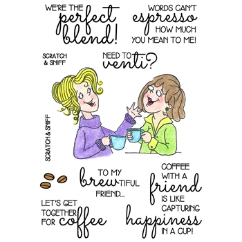 Inky Antics COFFEE BREAK 2 Clear Stamp Set 11372MC