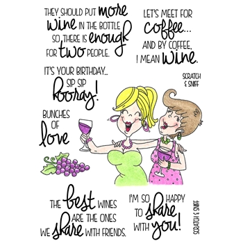 Inky Antics WINE TIME 2 Clear Stamp Set 11374MC
