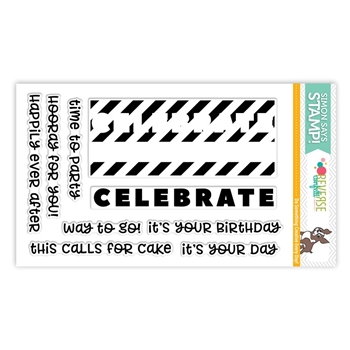 Reverse Confetti CELEBRATE YOUR DAY Clear Stamps SSS101786 Stamptember Exclusive