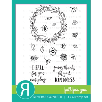 Reverse Confetti FALL FOR YOU Clear Stamp Set