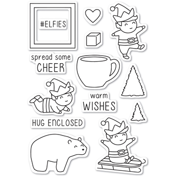 Memory Box Clear Stamps PLAYTIME ELVES Open Studio CL5216