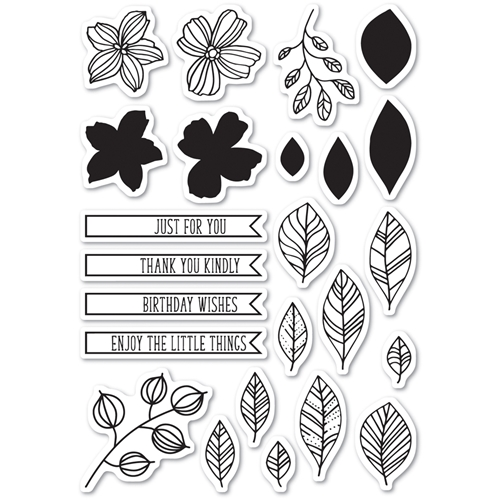 Memory Box Clear Stamps GARDEN SKETCHES Open Studio CL5204 Preview Image