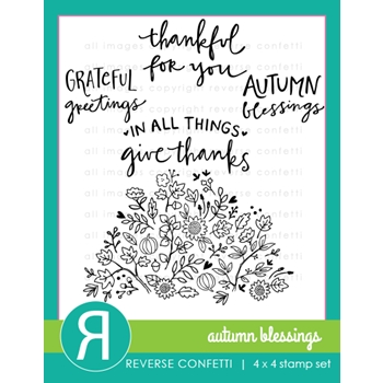 Reverse Confetti AUTUMN BLESSINGS Clear Stamp Set