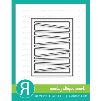 Reverse Confetti Cuts WONKY STRIPED PANEL Die