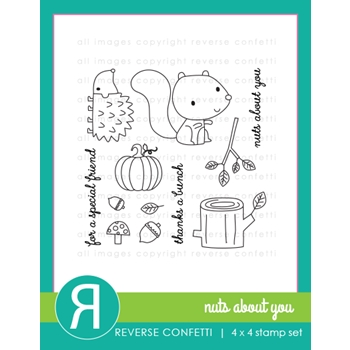 Reverse Confetti NUTS ABOUT YOU Clear Stamp Set