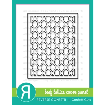 Reverse Confetti Cuts LEAF LATTICE PANEL Die