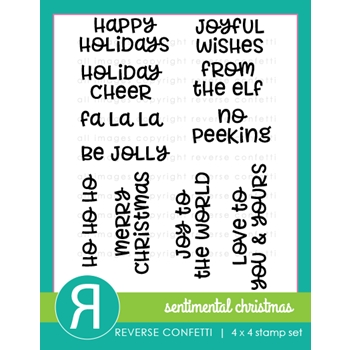 Reverse Confetti SENTIMENTAL CHRISTMAS Clear Stamp Set