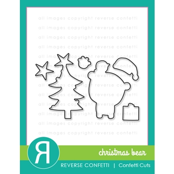 Reverse Confetti Cuts CHRISTMAS BEAR DIE Set