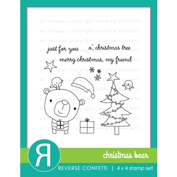 Reverse Confetti CHRISTMAS BEAR Clear Stamp Set