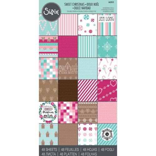 Sizzix SWEET CHRISTMAS 6x12 Cardstock Pad 662453 Preview Image