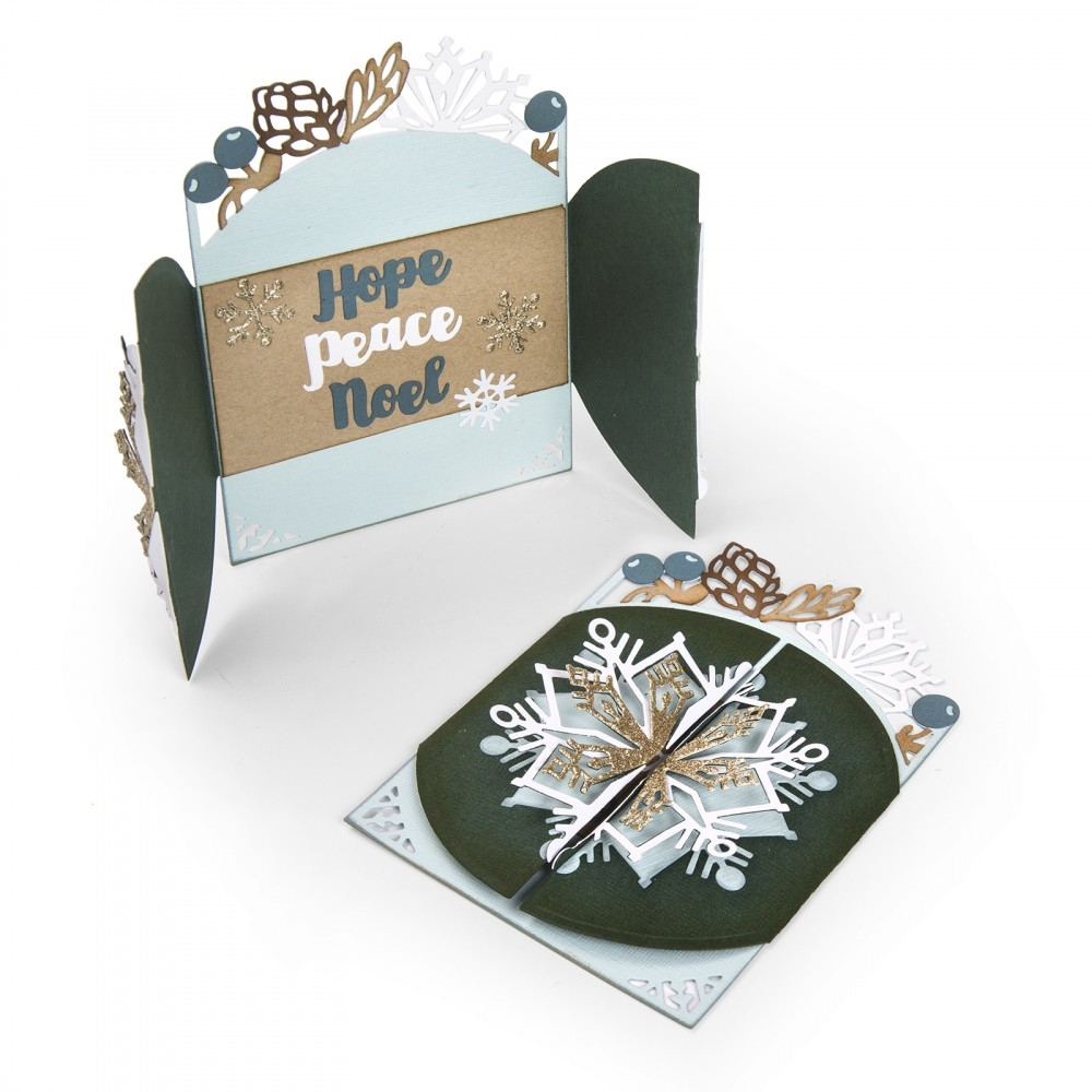 Sizzix SNOWFLAKE CARD FLIP AND FOLD Thinlits Die Set 662282 zoom image