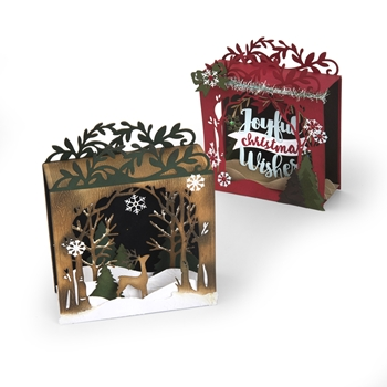 Sizzix HOLIDAY SHADOW BOX Thinlits Die Set 662284