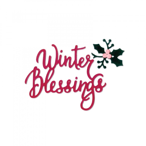 Sizzix WINTER BLESSINGS Thinlits Die Set 662447 Preview Image